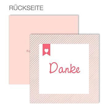Dankeskarten Geburt Mädchen - Made with Love - 0