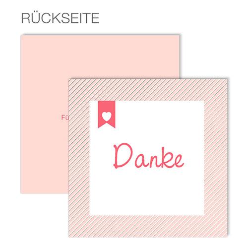 Dankeskarten Geburt Mädchen - Made with Love 49639
