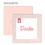 Dankeskarten Geburt Mädchen - Made with Love 49639 thumb