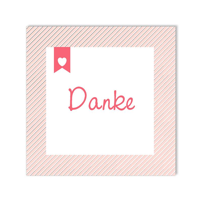 Dankeskarten Geburt für Mädchen Made with Love pas cher