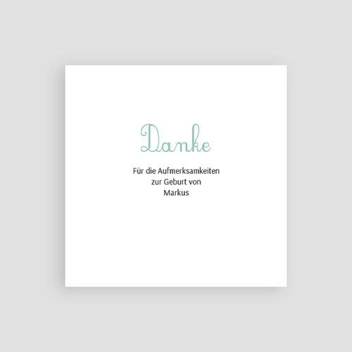 Dankeskarten Geburt Jungen - Fähnchen 49666 preview
