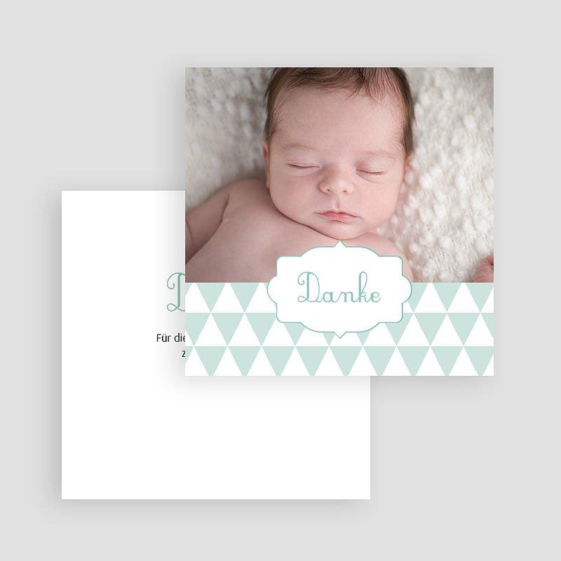 Dankeskarten Geburt Jungen - Fähnchen 49667 thumb