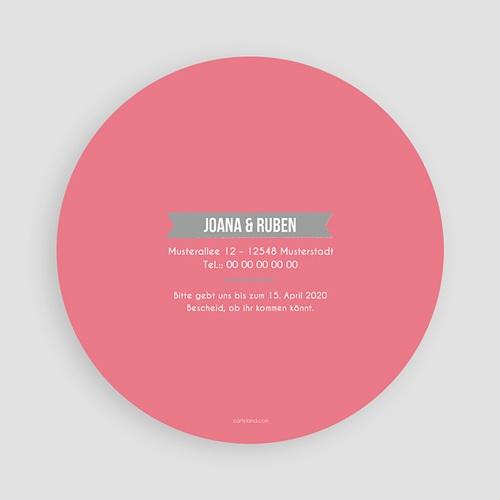 Runde Hochzeitskarten - Rosa 49741 preview