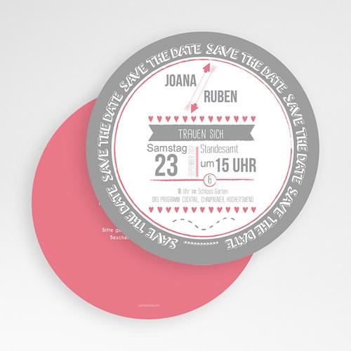 Runde Hochzeitskarten - Rosa 49742 preview
