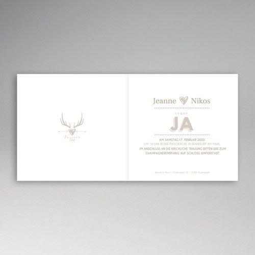 Einladungskarten Hochzeit  - Winter 49750 test