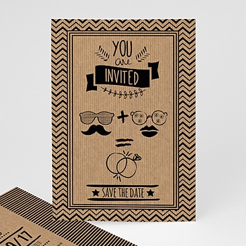 Einladungskarten Hochzeit  - Hipster Wedding - 0