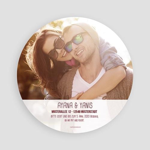Runde Hochzeitskarten - Bordeaux 49768 test