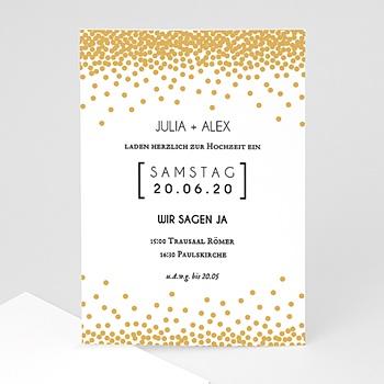 Elegante Hochzeitskarten  - Funkelkndes Gold - 0