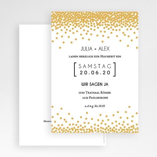 Hochzeitseinladungen Goldglanz gratuit