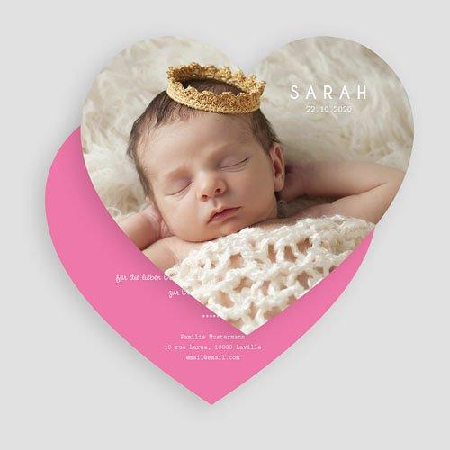 Geburtskarten mit Fotos Kleines Herz gratuit