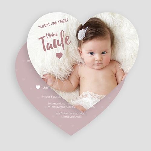 Einladungskarten Taufe Mädchen - Unser Herzchen 49821 test