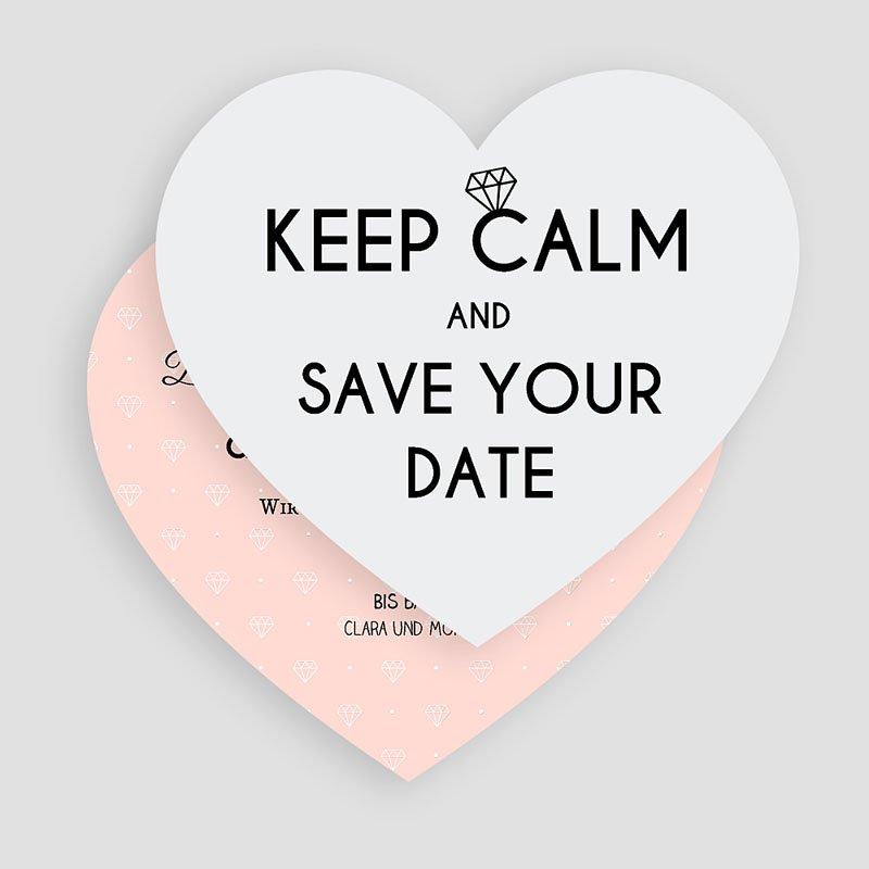 Save The Date Karten Hochzeit Herz und Diamant gratuit