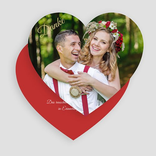 Originelle Dankeskarte Hochzeit  - Malerisch 49831 thumb