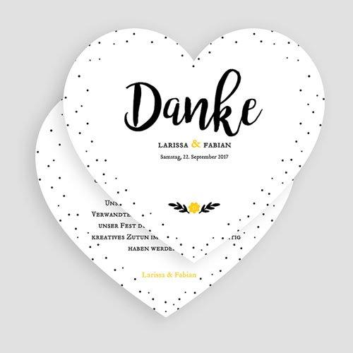 Alle Dankeskarten Hochzeit Herzform gratuit