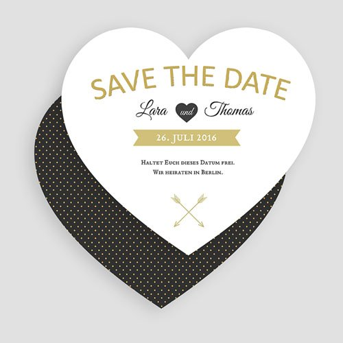 Save The Date  - Herz mit Stil  49833 preview
