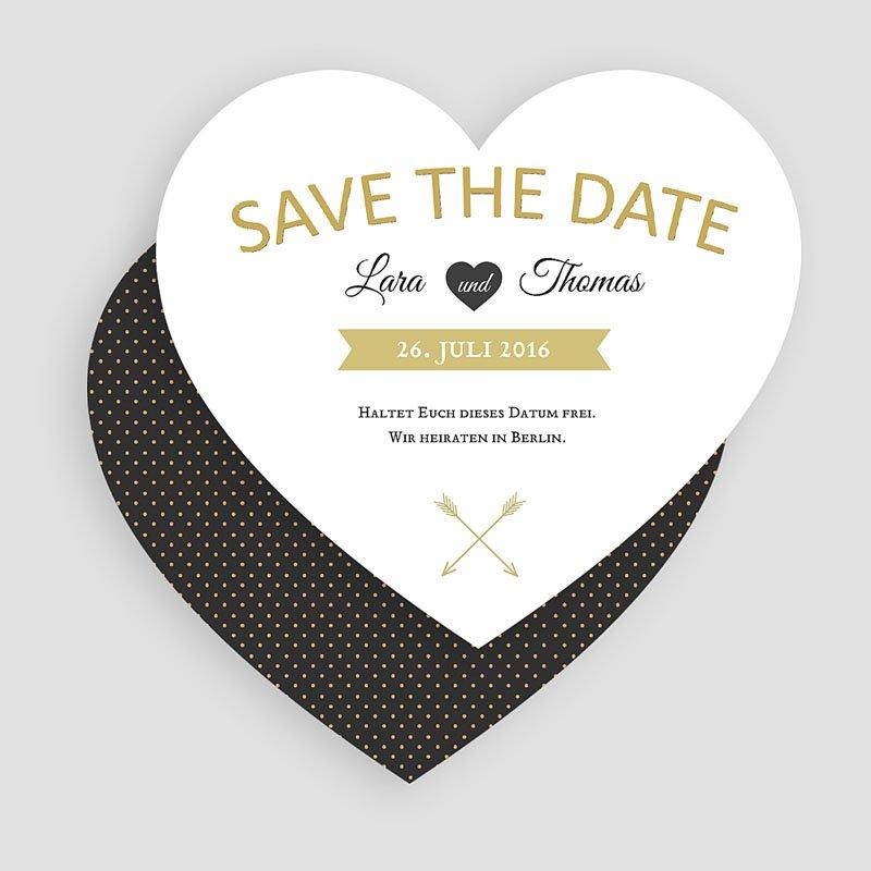 Save The Date Karten Hochzeit Herz mit Stil  gratuit