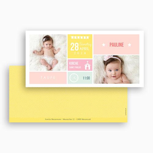 Einladungskarten Taufe Mädchen - Kästchen 49843 preview