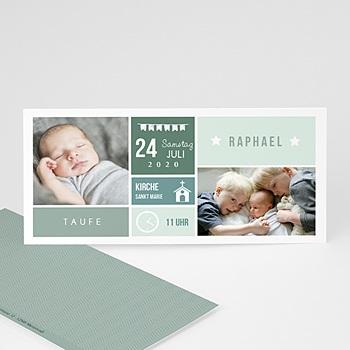 Einladungskarten Taufe Jungen   Pixel Stil   0