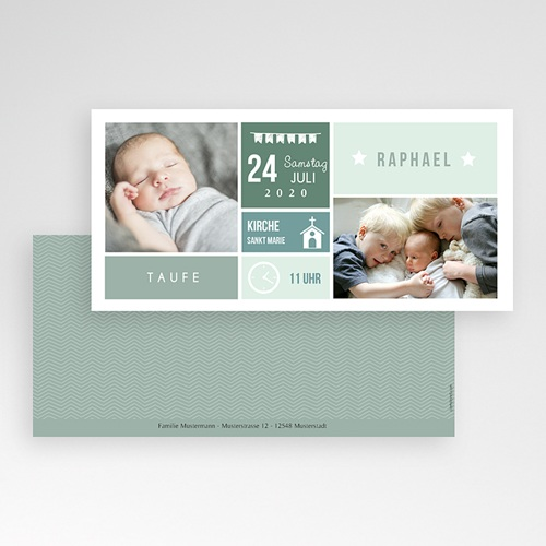 Einladungskarten Taufe Jungen  - Immersion 49851 preview