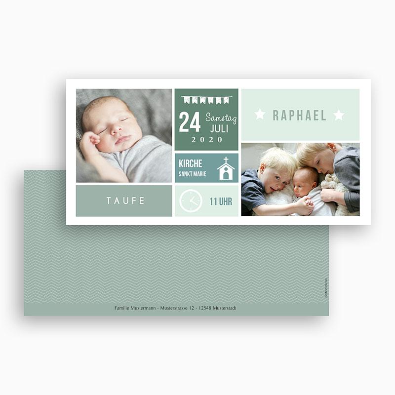 Einladungskarten Taufe Jungen  - Immersion 49852 thumb