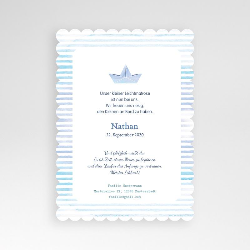 Geburtskarten für Jungen Kleiner Matrose pas cher