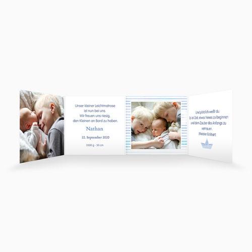 Babykarten für Jungen - Matrosenbaby 49878 preview