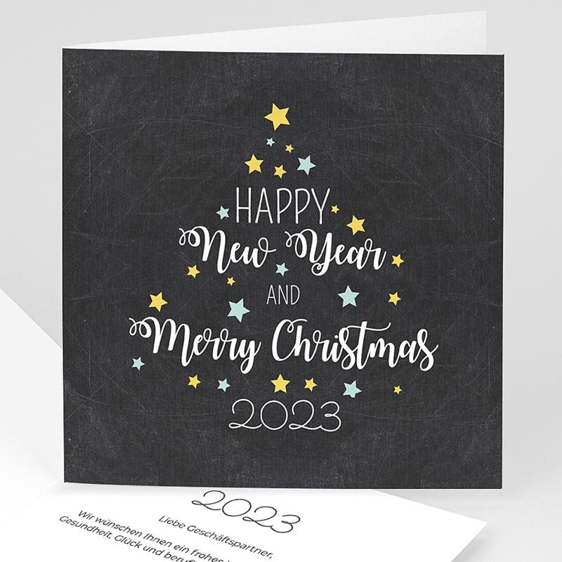 Geschäftliche Weihnachtskarten Baumwunsch