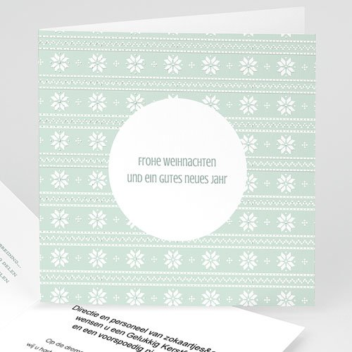 Weihnachtskarten - Winter Pattern 49940