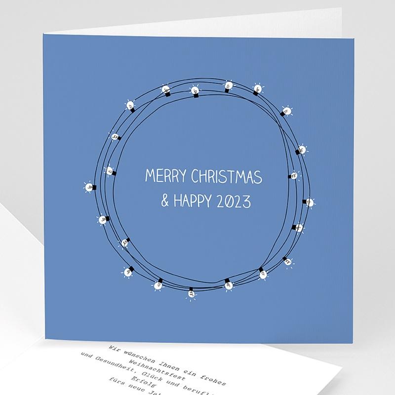 Geschäftliche Weihnachtskarten Lichterkette
