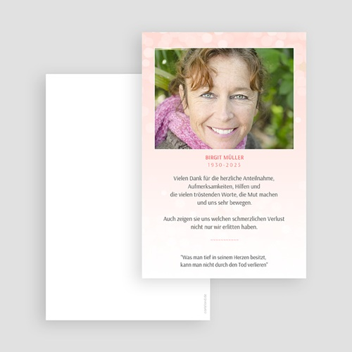 Weltlich Dankeskarten Trauer Ewige Ruhe gratuit