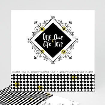 Hochzeitseinladungen Schwarz-Weiß - Barock - 0