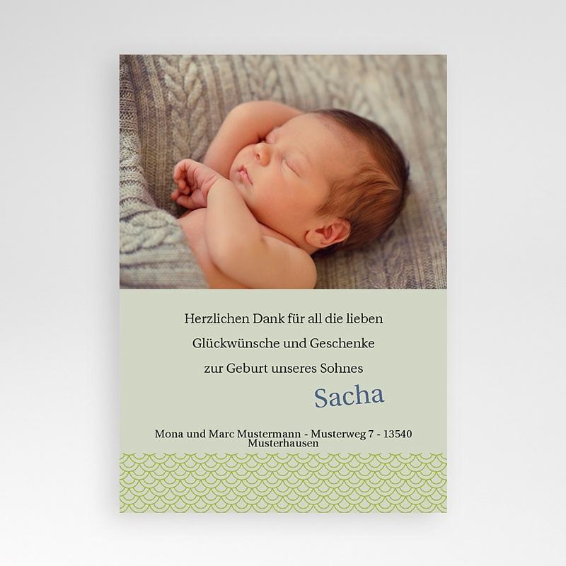 Dankeskarten Geburt für Mädchen Kira