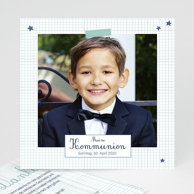 Dankeskarten Kommunion Jungen - Erstkommunion Schule 50067 thumb
