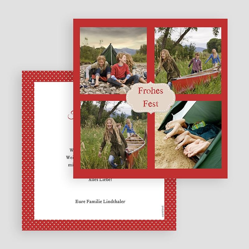 Weihnachtskarten Quartett gratuit