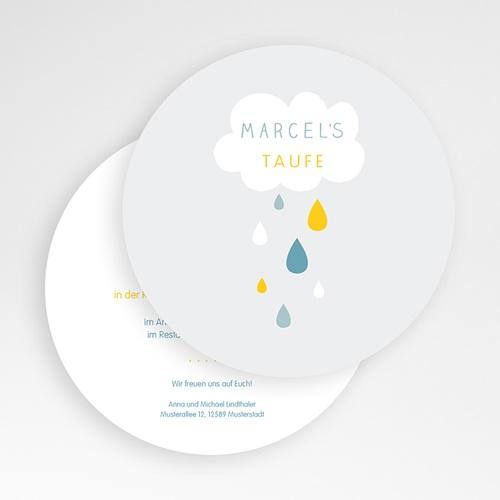 Einladungskarten Taufe für Jungen Wolke & Tropfen gratuit