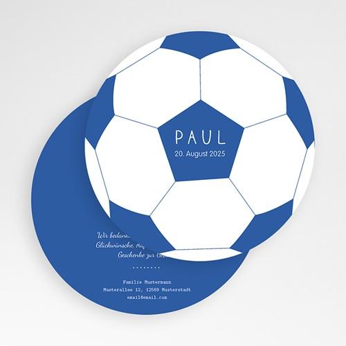 Geburtskarten für Jungen Fussball gratuit