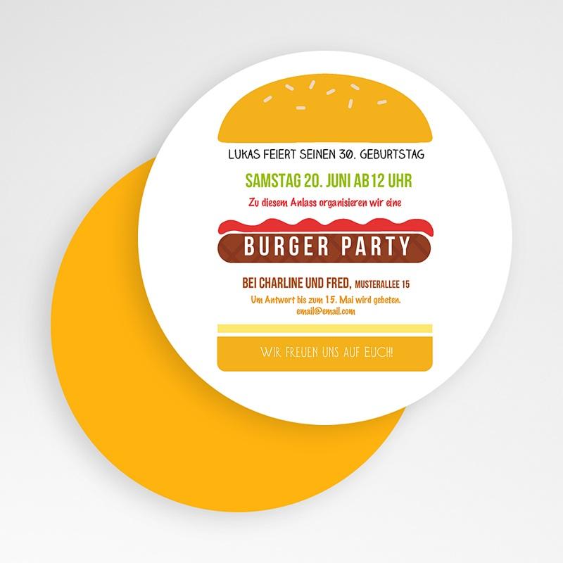 Erwachsener Einladungskarten Geburtstag Burger Party gratuit