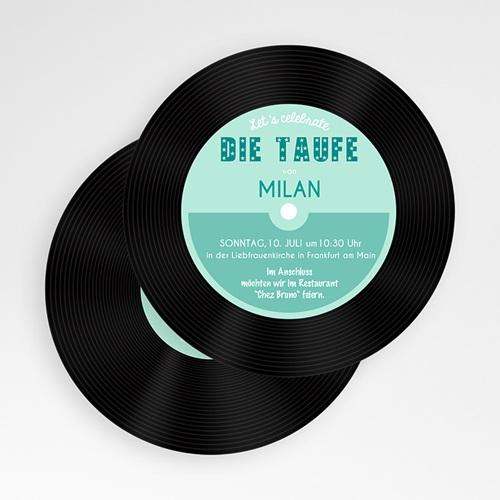 Einladungskarten Taufe Jungen  - Taufe Pop Blau 50109 preview