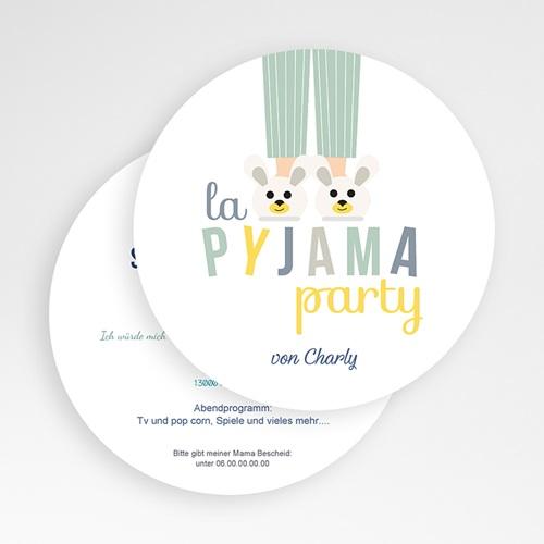 Einladungskarten Geburtstag Jungen Pyjama Party gratuit