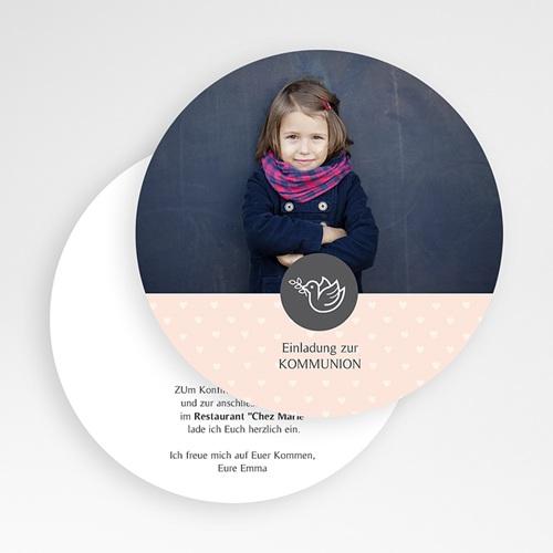 Einladungskarten Kommunion Mädchen Frieden und Glaube gratuit