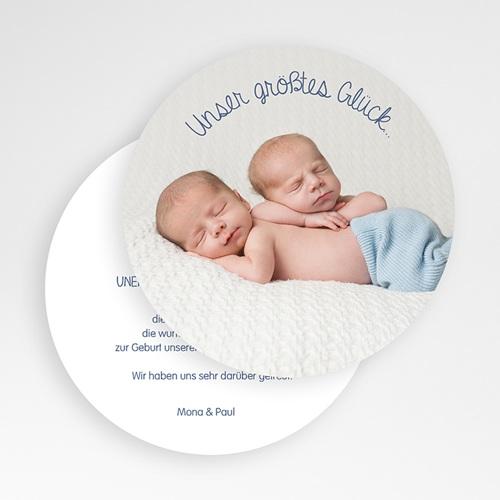 Dankeskarten Geburt Zwillinge - Zwillingsmäuse 50127 preview