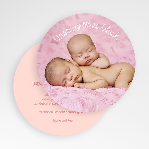 Dankeskarten Geburt - Hasenmädchen 50128 preview