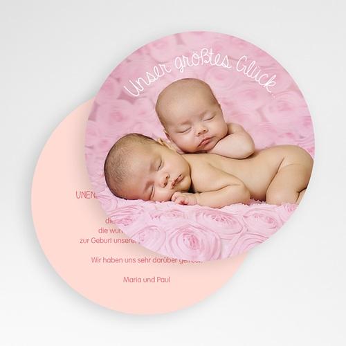 Dankeskarten Geburt - Hasenmädchen 50128 test