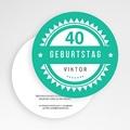 Runde Geburtstage - Vintage Grün 50131 test