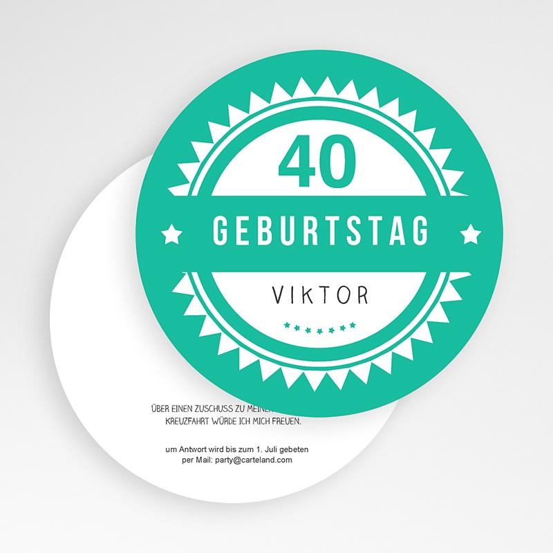 Erwachsener Einladungskarten Geburtstag Vintage Grün gratuit