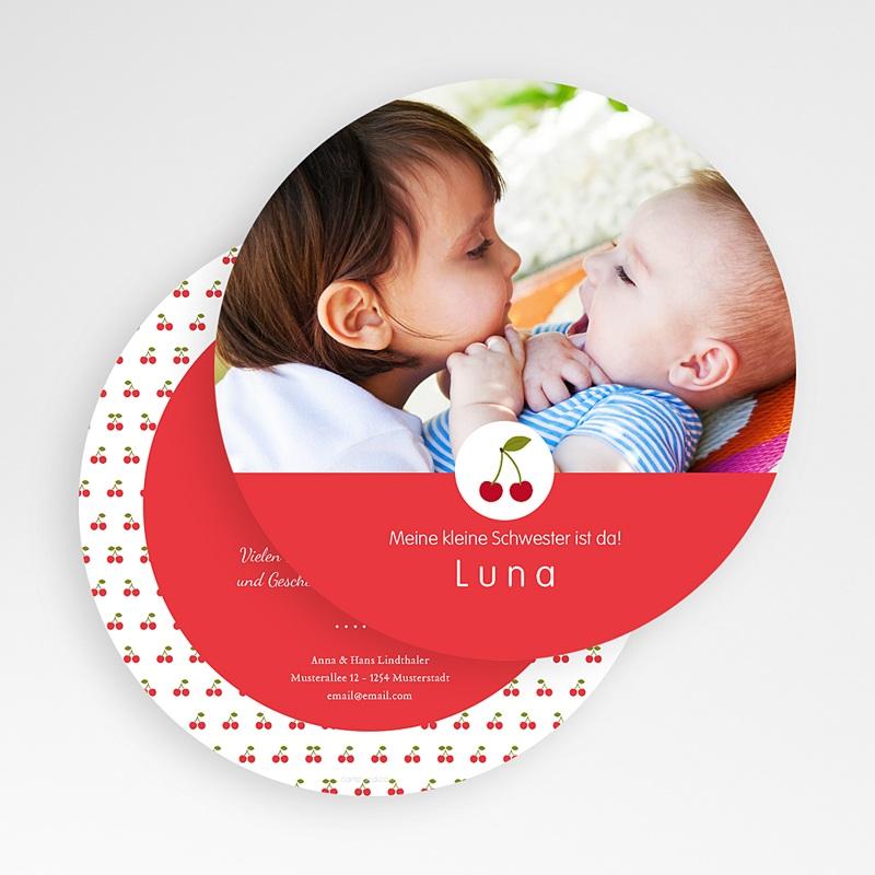 Geburtskarten für Mädchen Kirsche gratuit