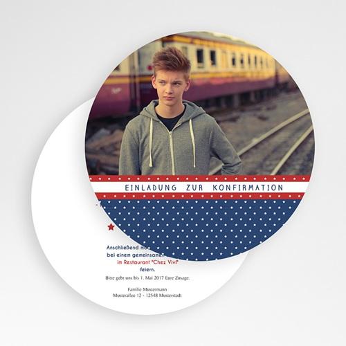 Einladungskarten Konfirmation - Sterne 50137 thumb