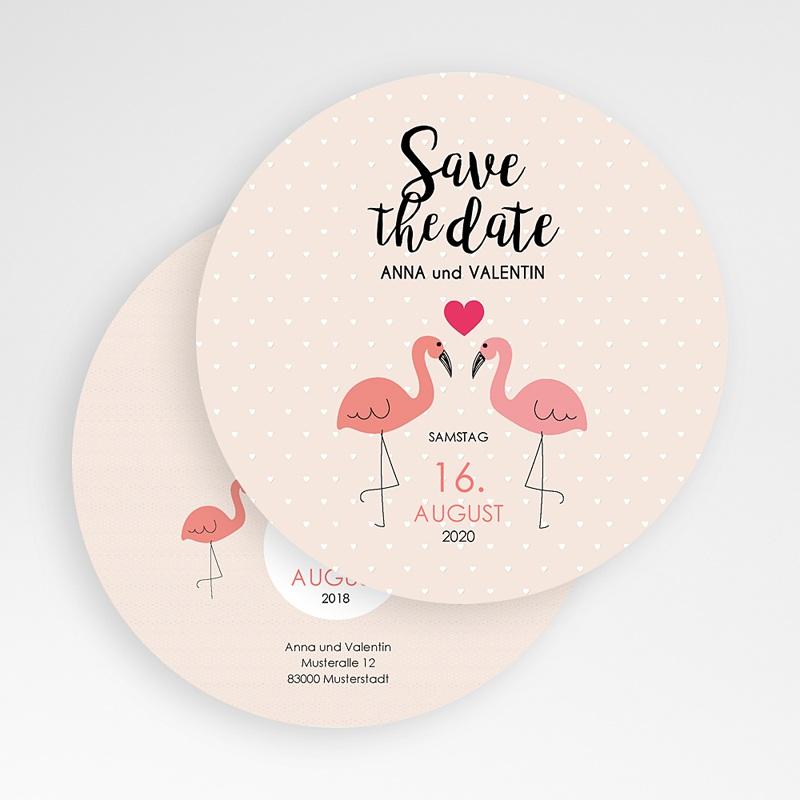 Save The Date Karten Hochzeit Flamingos gratuit