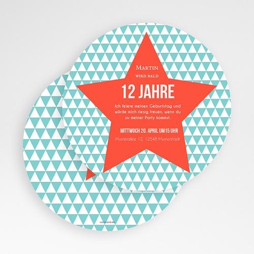 Einladungskarten Geburtstag Jungen Stern orange gratuit