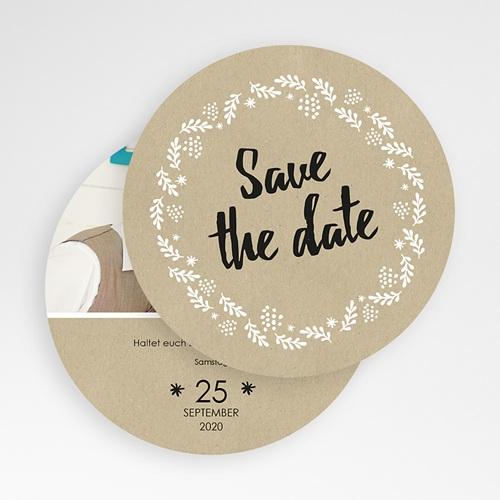 Save The Date  - Schlichte Blumenkrone 50145 test